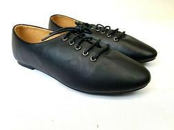 Ollio Women's Ballet Flat Shoe Lace Up Multi Color Oxford US
