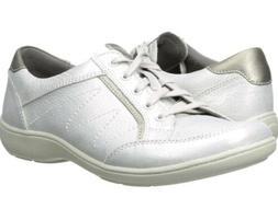 Aravon Women's Bromly Oxford Fashion Sneaker Silver Argent S