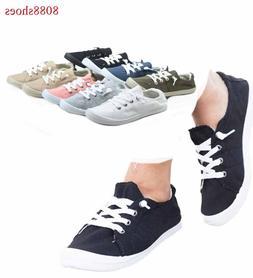 Women's Causal Slip On Flat Heel Round Toe Sneaker Shoes All