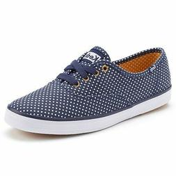 Keds Women's Champion Micro Dot Navy / White Oxford Shoes -