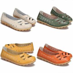 Women's Hollow Shoes Casual Loafers Boat Moccasin Oxfords Le
