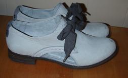 Caterpillar Women's Kay Oxford Leather Light Gray Shoe Size