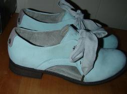 Caterpillar Women's Kay Oxford Leather Mint Dewy Duet Shoe S