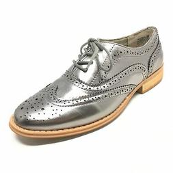 Women's NEW Wanted Oxfords Shoes Size 8M US/38 EU Silver Win