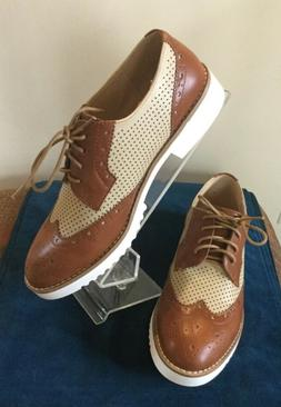 Women's Wanted Oxfords Shoes Size 8.5 M  Wingtip Tan Beige