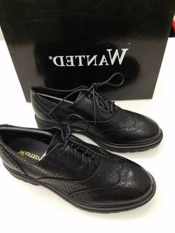 Women's Wanted Oxfords Shoes SZ 6.5 Wingtip Tan Black Wingti