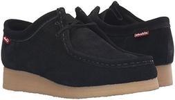 Clarks Women's Padmora Oxford Black Suede Shoes 26120706