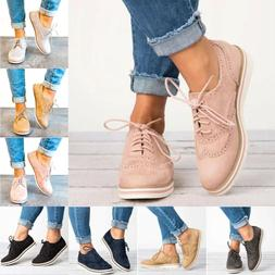 Women's Sneakers Casual Office Oxford Breathable Trainers La