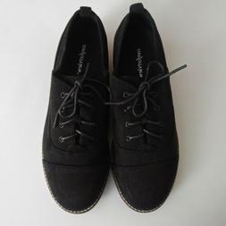ComfortView Women's Wide Width Timea Oxford Flat Shoes Lace