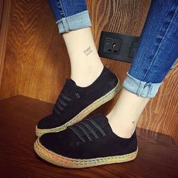 Women Sneakers Oxford Shoes Suede Lace up Boat Loafers Round