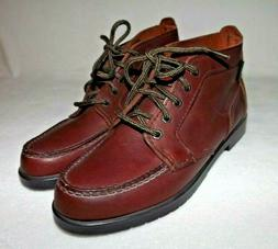 Eastland Womens 7.5 M Brown Leather Moc Toe Mid Lace Up Oxfo