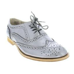 Wanted Womens Babe Faux Leather Wingtip Brogue Oxfords Shoes