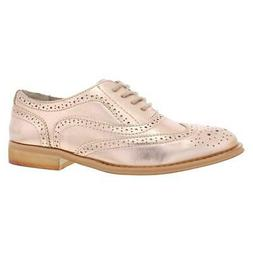 womens babe pink faux leather oxfords shoes