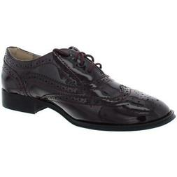 womens babe purple faux leather oxfords shoes