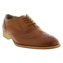 womens babe tan faux leather oxfords shoes