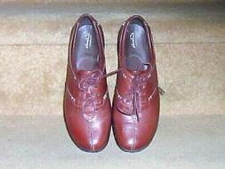 WOMENS CLARKS BENDABLES EVERLAY ELMA LEATHER OXFORD SHOES Sz