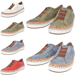 Womens Breathable Slip On Sneakers Loafers Oxford Flat Casua