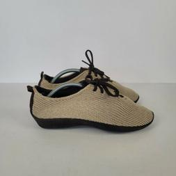 Arcopedico Womens Knit Shoes Sz 38 US 7.5 Lace Up Comfort Sn