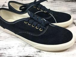 MOSSIMO Women's Navy Blue Corduroy Sneakers Casual Lace Up