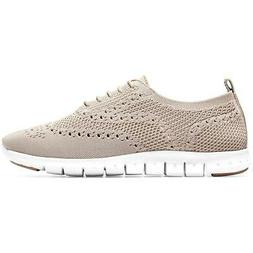 Cole Haan Womens ZeroGrand Knit Lace-Up Wingtip Oxfords Shoe