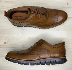 Cole Haan ZeroGrand Wingtip Oxford Brown British C24964 Men'